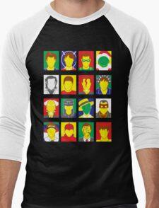 Faces of Carrey Men's Baseball ¾ T-Shirt