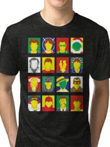 Faces of Carrey Tri-blend T-Shirt