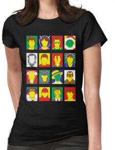 Faces of Carrey Womens Fitted T-Shirt