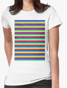 rainbow flag Womens Fitted T-Shirt