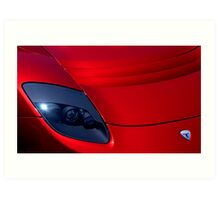 Frighteningly Red Tesla Art Print