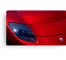 Frighteningly Red Tesla Canvas Print