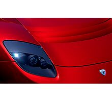 Frighteningly Red Tesla Photographic Print