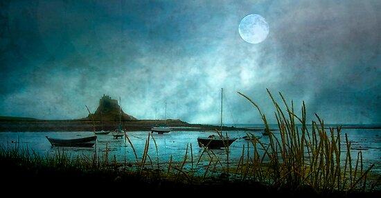 Lindisfarne Moon  by Tarrby