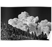 Summer Storm Lake Tahoe Poster