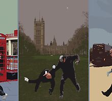 London Matrix triptych by Jasna