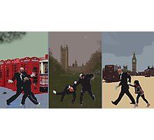 London Matrix triptych Photographic Print