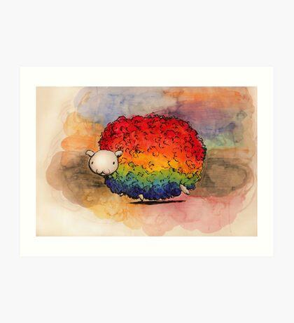 Nyan Sheep Art Print