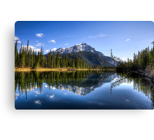 A Bow River Morning Canvas Print