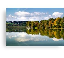 New York Cincinnatus Lake Reflection Landscape Canvas Print