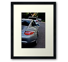Big brother Carrera is always looking out for his Sister Cayenne Framed Print