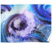 Dancing Water Abstract Painting Poster