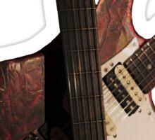Crossed guitars Sticker