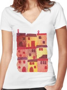 Tuscan Holiday Women's Fitted V-Neck T-Shirt