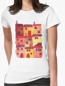Tuscan Holiday Womens Fitted T-Shirt