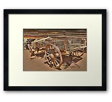 The Old Wagon HDR  Framed Print