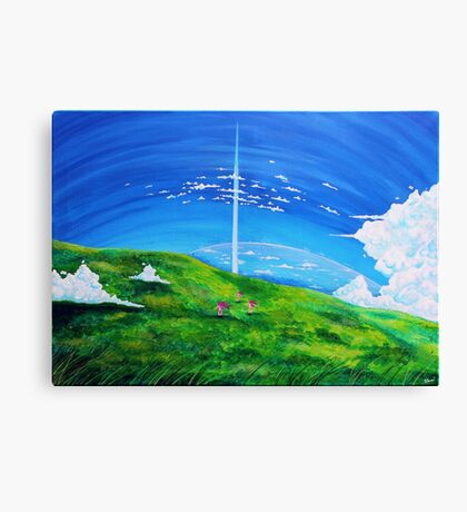 La tour au-delà des nuages (Beyond the Clouds) Canvas Print