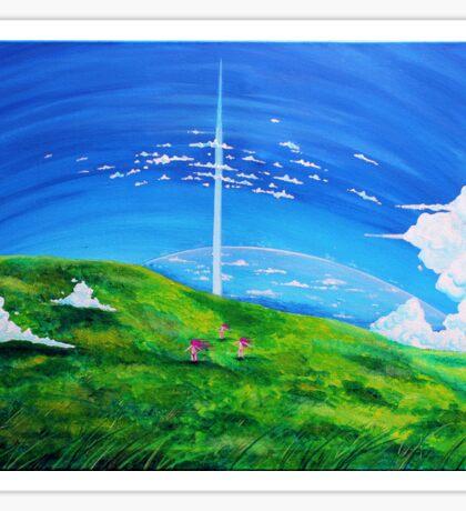 La tour au-delà des nuages (Beyond the Clouds) Sticker