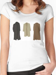 A study in trenchcoats Women's Fitted Scoop T-Shirt