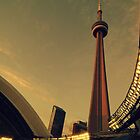 CN Tower and Rogers Centre by luckoftheirish