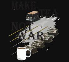 make tea not war Kids Clothes
