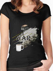 make tea not war Women's Fitted Scoop T-Shirt
