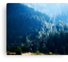 Cable Cars in The Mountains Canvas Print