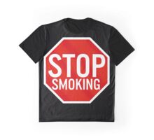 Stop Smoking Graphic T-Shirt