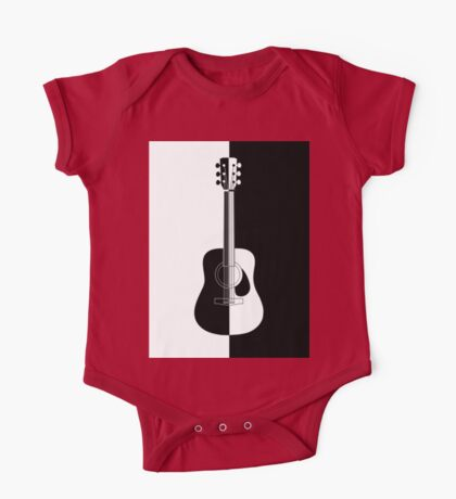 Modern  black and white guitar One Piece - Short Sleeve