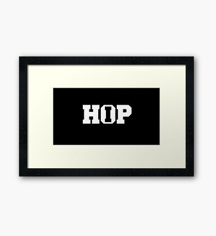 HIP HOP Music is my religion. Black version. Framed Print