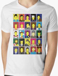 Hall of Hanks Mens V-Neck T-Shirt
