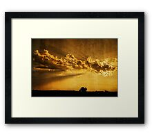 Wonderful sunset Framed Print