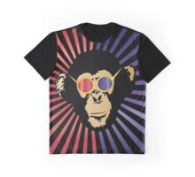 Cool Chimpanzee in 3d Glasses Graphic T-Shirt
