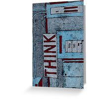 Think:red Greeting Card