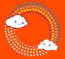Kawaii cloudy love Kids Tee