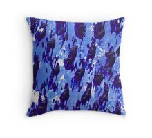 Whale migration. Throw Pillow