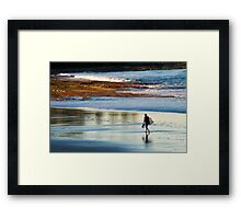 Late Afternoon Surf Framed Print