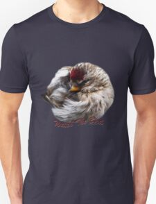 Ball of Feathers Winter Redpoll Bird Art T-Shirt