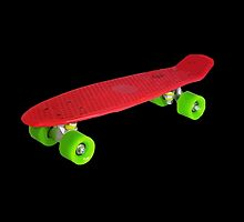 Cool Funny Retro Skate - Red version by 2monthsoff