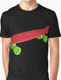 Cool Retro Skate - Red version Graphic T-Shirt