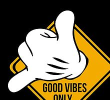 Good Vibes - Hang Loose Fingers by 2monthsoff