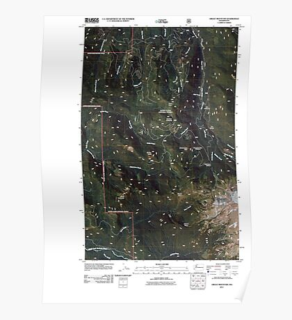 USGS Topo Map Washington State WA Groat Mountain 20110425 TM Poster
