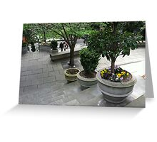 Downtown Seattle stroll Greeting Card