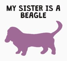 My Sister Is A Beagle Baby Tee