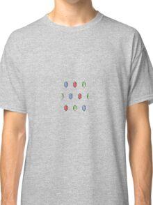 The Legend of Zelda pixel Rupee pattern Classic T-Shirt