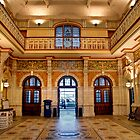 The Booking Hall at Dunedin Railway Station (2) by Christine Smith