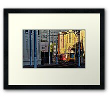 San Diego Trolley Series Downtown Framed Print