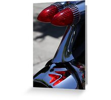 Fire on Chrome Greeting Card
