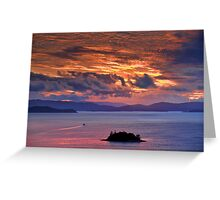 Sunset over the Coral Sea Greeting Card