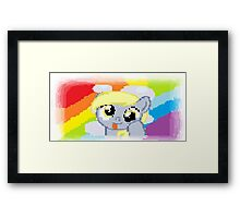 Derpy Hooves Pixel My Little Pony Brony Pegasister Framed Print